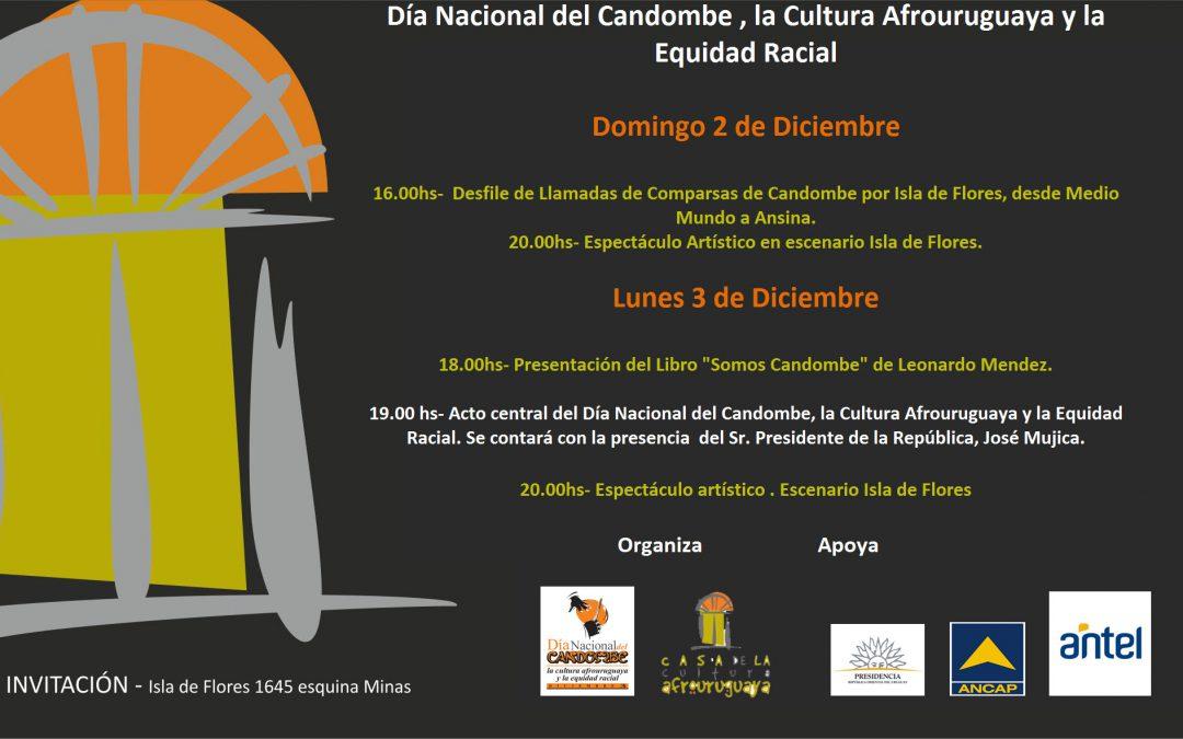 3 de Diciembre – Día Nacional del Candombe , la Cultura Afrouruguaya y la Equidad Racial