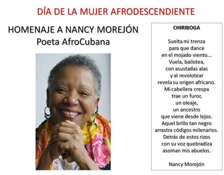 Homenaje a poetisa afrocubana Nancy Morejón